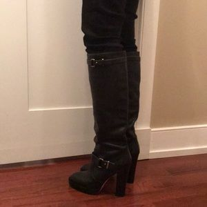 New Coach heeled leather boots